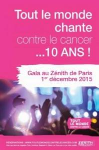 Concert  : Tout le monde chante contre le cancer